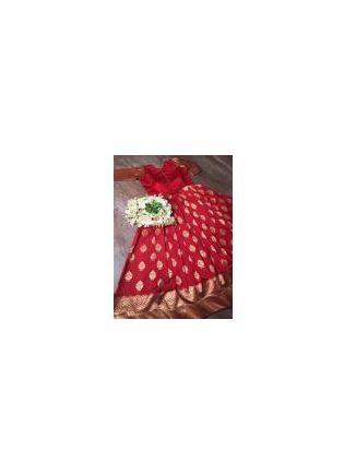 Red Silk Waving Stylish Wedding Designer Gown