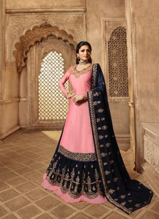 Stylish Peach Color Designer Wedding Wear Salwar Kameez Suit