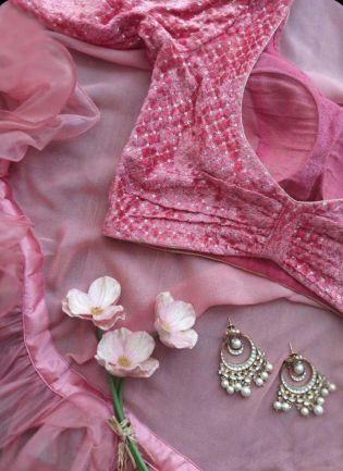Delightful Pink Soft Net Base Sequin Work Designer Saree