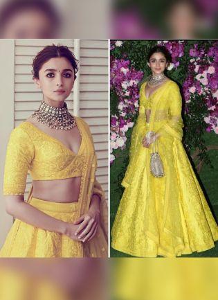 Yellow Color Wedding Wear Designer Heavy Embroidered Lehenga Choli