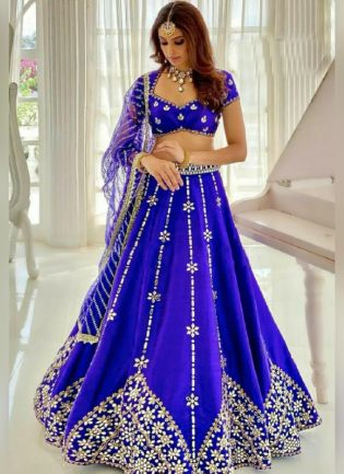 Gorgeous Blue Color With Heavy Embroidery Work Lehenga Choli