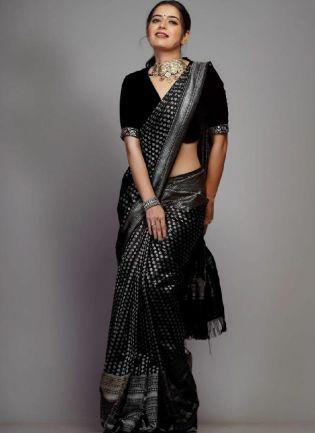 Fantastic Black color Silk Base Banarasi Saree