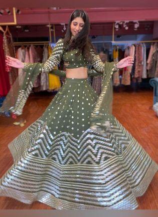 Presenting Designer Look Teal Green Color Lehenga Choli With Same Matching Blouse