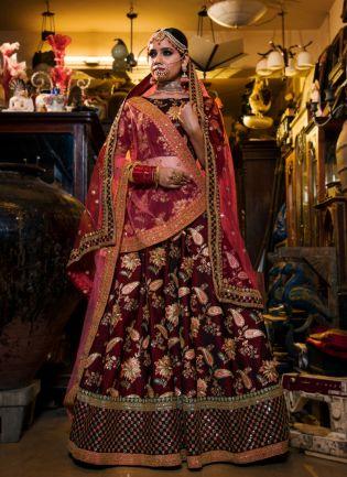 Maroon Colour Designer Heavy Embroidered Lehenga Choli