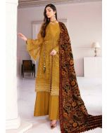 Attractive Ochre Brown Color Georgette Base Pakistani Palazzo Suit